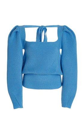 Rachel Tie-Accented Wool-Blend Sweater By Anna October | Moda Operandi