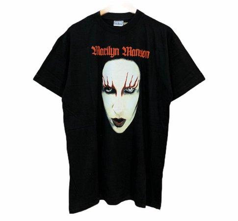 Vintage Marilyn Manson Big Image Promo T Shirt | Etsy