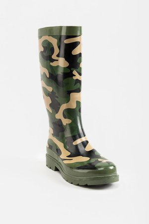 Elana Rubber Rain Boot| francesca's