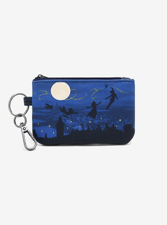 Loungefly Disney Peter Pan Night Sky ID Coin Purse