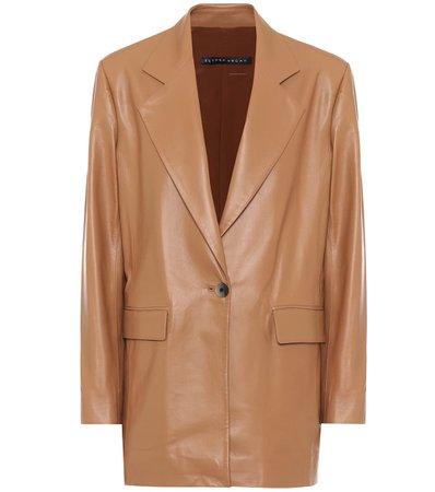 Single-Breasted Leather Blazer - Zeynep Arçay   Mytheresa