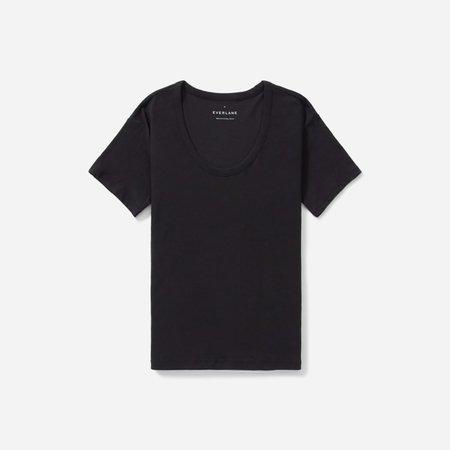 Women's Air Scoop-Neck Tee | Everlane black