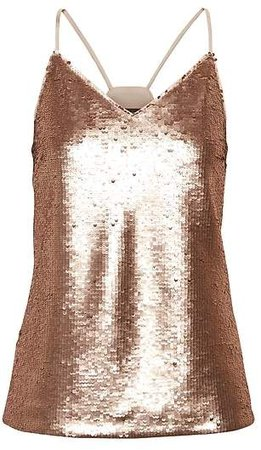 Sequin Strappy Camisole