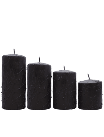 black candles transparent