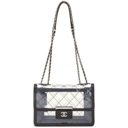 vinyl chanel handbag