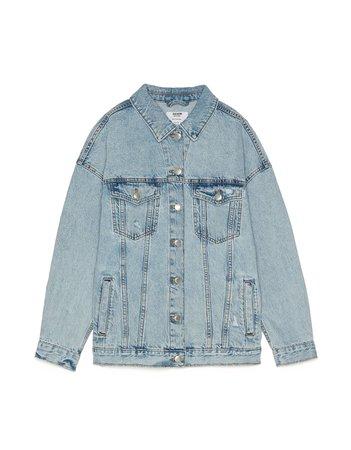 Oversized denim jacket - Jackets - Bershka Bershka Worldwide