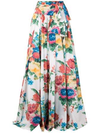 Carolina Herrera, Multi Floral Skirt