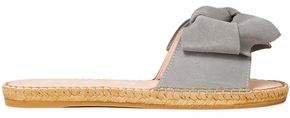 Hamptons Bow-embellished Suede Espadrille Slides