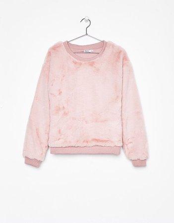 Bershka Faux Fur Sweater