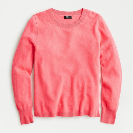 J.Crew: Long-sleeve Everyday Cashmere Crewneck Sweater coral