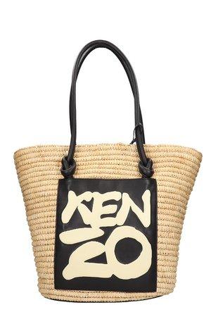 Kenzo Tote In Beige Fabric