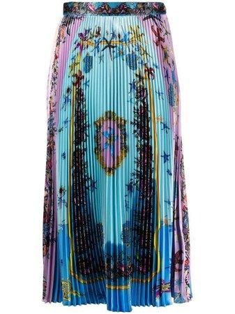Versace Pleated Midi Skirt - Farfetch