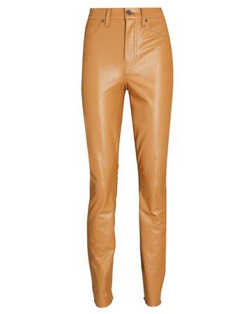 Veronica Beard Maera High-Rise Skinny Vegan Leather Pants | INTERMIX®