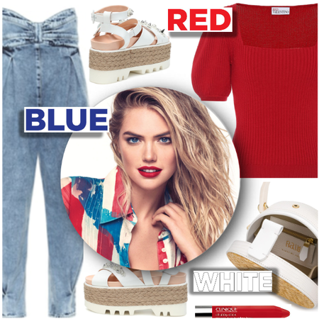 @shoaleh-nia set created Red White and Blue - Fashion look - URSTYLE