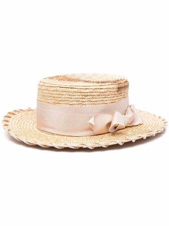 Ruslan Baginskiy Straw Boater Hat - Farfetch