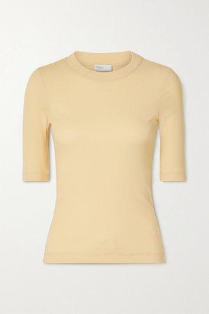 Pastel yellow Cotton-jersey T-shirt | Rosetta Getty | NET-A-PORTER