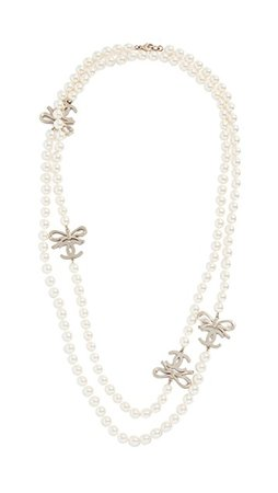 What Goes Around Comes Around Chanel Bow CC Necklace | SHOPBOP