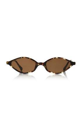 Alessandra Rich x Linda Farrow Skinny Oval Cat-Eye Sunglasses by ALESSANDRA RICH X LINDA FARROW
