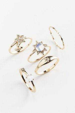 Sun And Stars Ring Set | Urban Outfitters