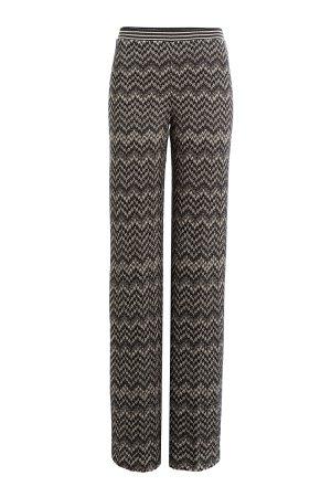Wide Leg Wool Blend Pants Gr. IT 46