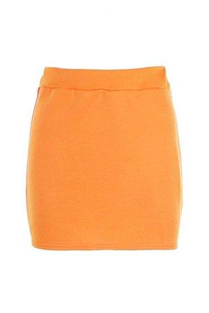 YPO Womens Tangerine Becky Sports Tape Side Sweat Mini Skirt: Amazon.co.uk: Clothing