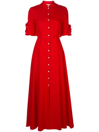 Carolina Herrera Long Shirt Dress S2011N507CTC Red | Farfetch