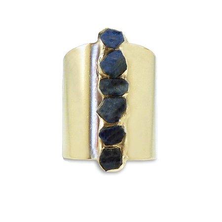 Raw Sapphire Ring, Sapphire Statement Ring, September Birthstone, Blue - Inbal Mishan Jewelry