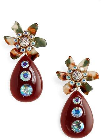 Flower Bulb Drop Earrings