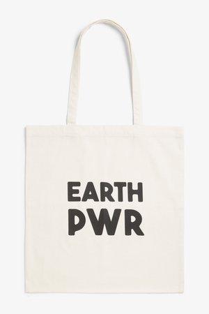 Tote bag - Earth pwr - Bags, wallets & belts - Monki BE