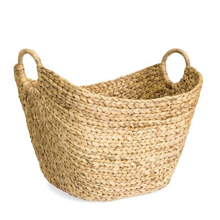 Best Choice Products Portable Large Hand Woven Seagrass Wicker Braided Storage Laundry Blanket Toys Basket Organizer for Home w/ Handles, Strong Steel Frame, Natural - Walmart.com