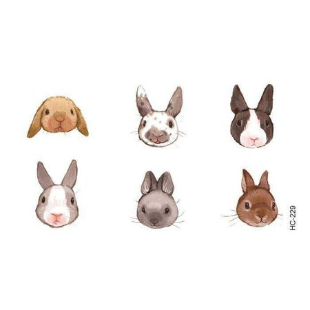 itGirl Shop | CUTE BABY RABBITS SMALL TEMPORARY TATTOOS