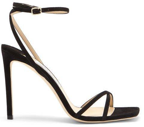 Metz 100 Ankle-strap Suede Sandals - Black