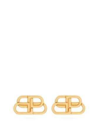 Balenciaga BB-stud earrings