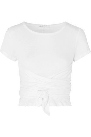 The Line By K | Jeanne knotted cotton-jersey T-shirt | NET-A-PORTER.COM