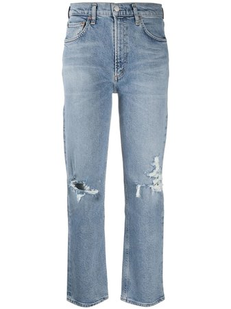 AGOLDE Distressed Cropped Jeans - Farfetch