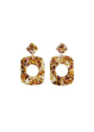 MANGO Tortoiseshell earrings