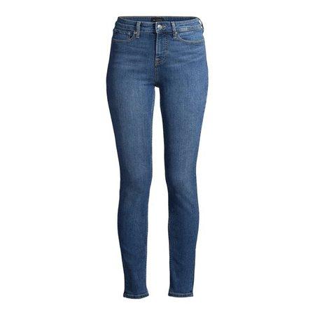 Free Assembly - Free Assembly Women's Essential High-Rise Skinny Jeans - Walmart.com - Walmart.com blue
