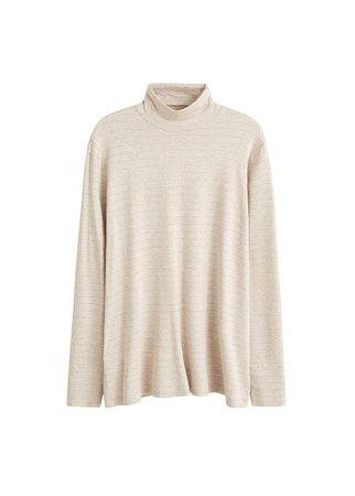 Violeta BY MANGO Metallic stripes t-shirt