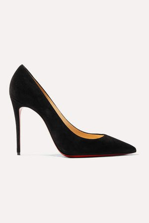 Kate 100 Suede Pumps - Black