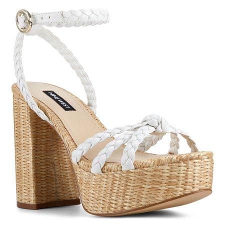 Rylin Block Heel Ankle Strap Sandals - Nine West