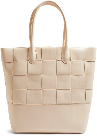 Weave Faux Leather Tote