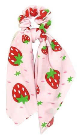 strawberry scrunchie