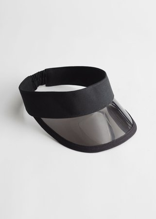 Clear Brim Sun Visor - Black - Caps - & Other Stories