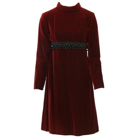 Kiki Hart Burgundy Velvet Dress