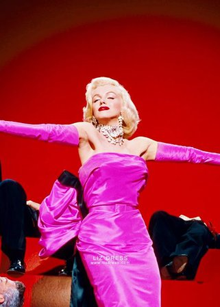 Marilyn Monroe Pink Dress with Bow Gentlemen Prefer Blondes