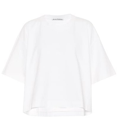 Cylea embossed logo cotton T-shirt