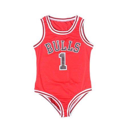 Bulls Basketball Red Bodysuit