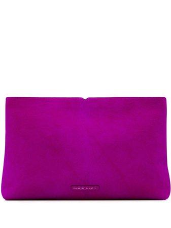 Shop pink Giuseppe Zanotti V Kym clutch bag with Express Delivery - Farfetch