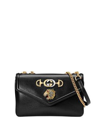 Gucci, Black Medium Rajah Shoulder Bag
