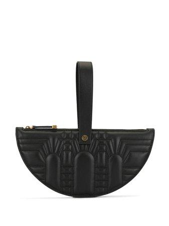 Black Shanghai Tang Half Moon wristlet clutch - Farfetch
